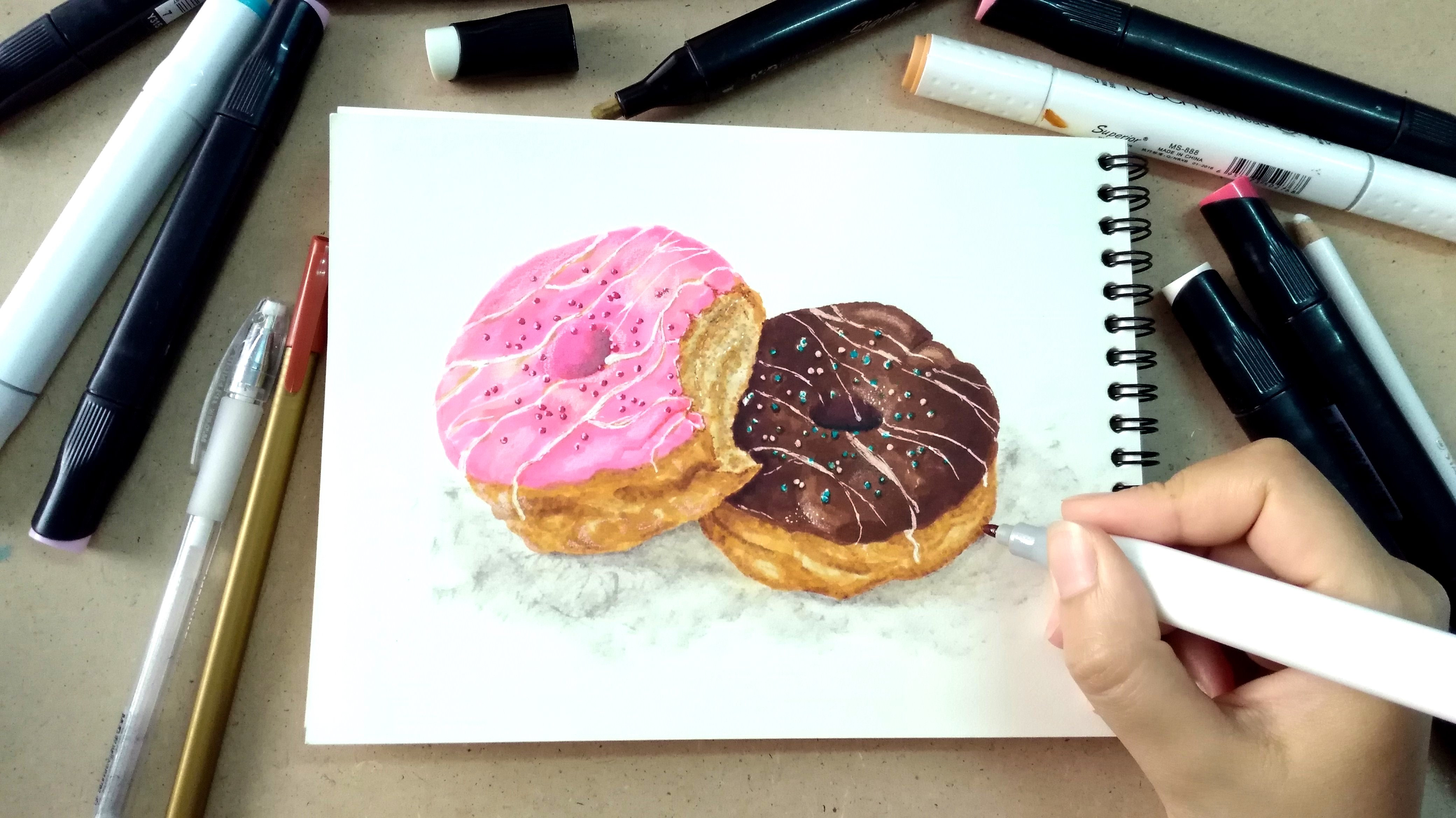 Ink Markers: Food Drawing and Illustration