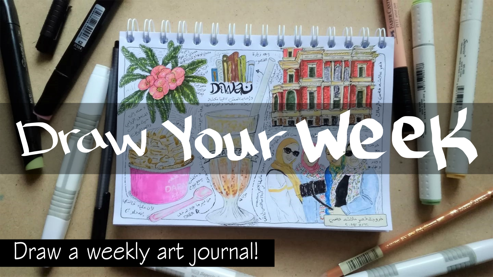 draw your week weekly art journal ink markers
