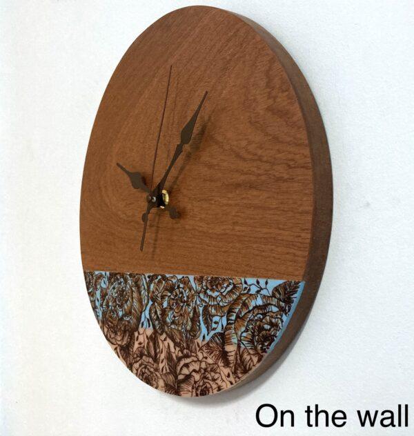 Wooden-wall-clock