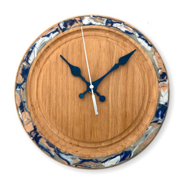 blue-pearl-wall-clock-beechwood-wood-clock-small