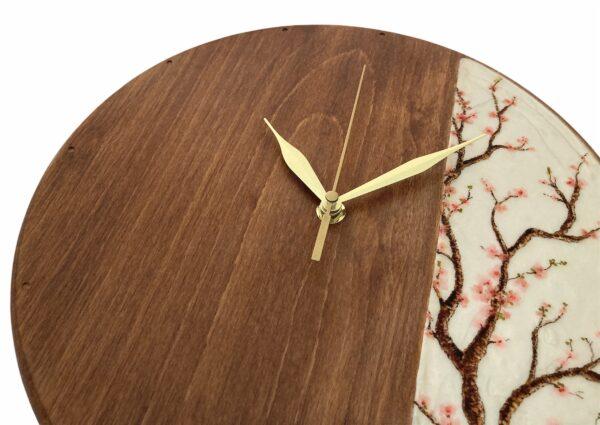 Tree-bloosm-wooden-wall-clock