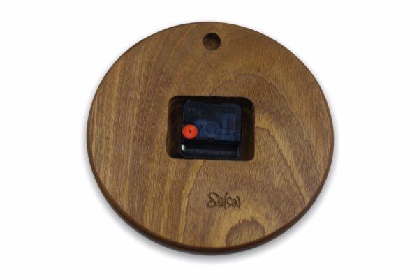 mahogany-Wood-wall-clock-with-leaves-back