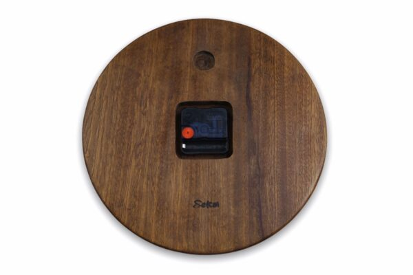 mahogany-Wood-wall-clock-with-flowers-back