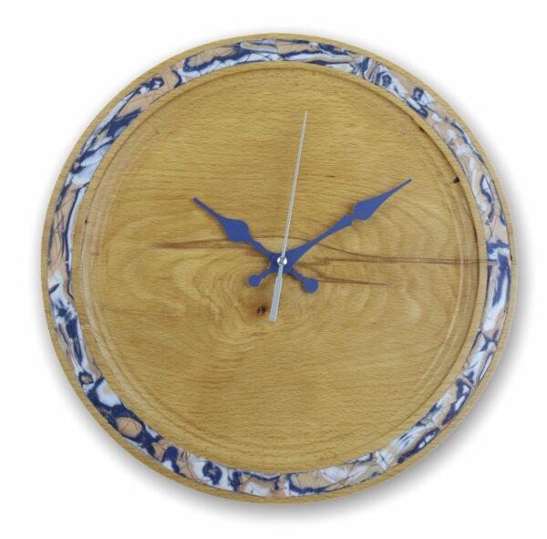 blue-pearl-wall-clock-beechwood-wood-clock