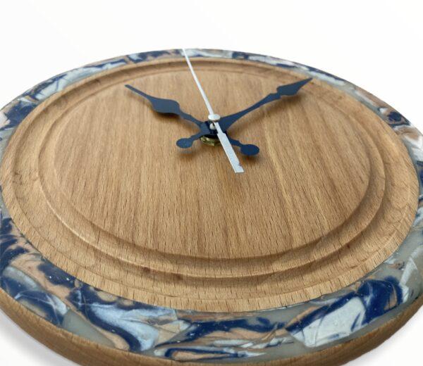 blue-pearl-wall-clock-beechwood-wood-clock-side-small